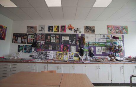Art classroom display