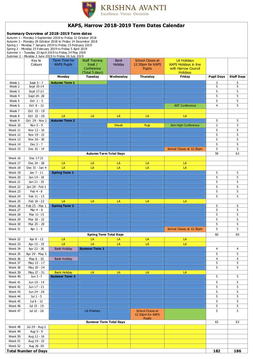 201920 proposed academic year school calendar